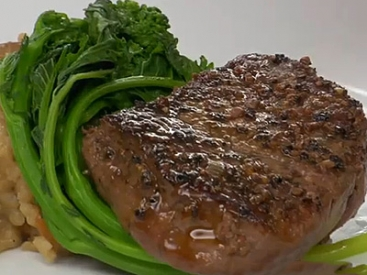 Beef Tenderloin with Peppercorn Sauce
